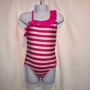 Xhilaration 4/5 striped swimsuit